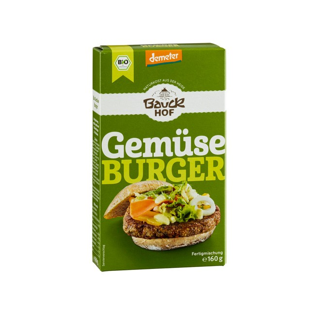 Gemüse Burger Fertigmischung ohne Weizen 160g Demeter