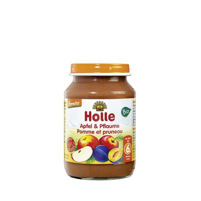 Bio Apfel Pflaume Obstglas von Holle (190g)