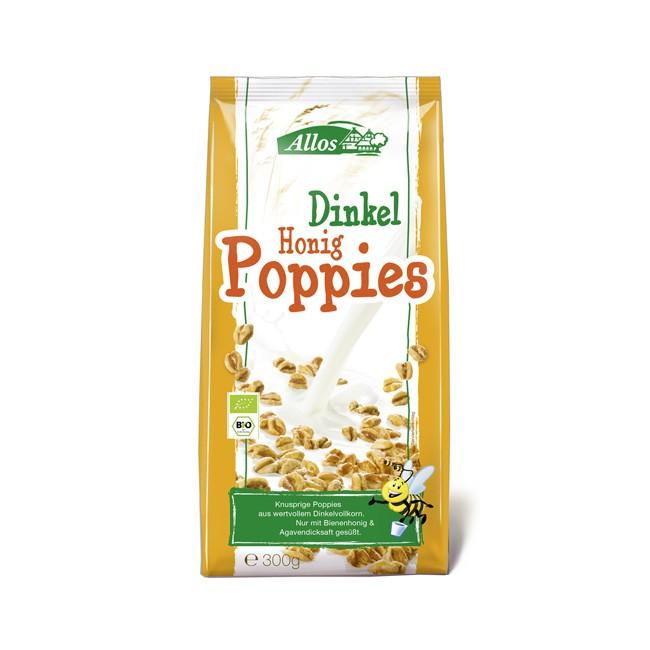 Allos Dinkel Poppies mit Müsli 300g reich an Ballaststoffen vegan