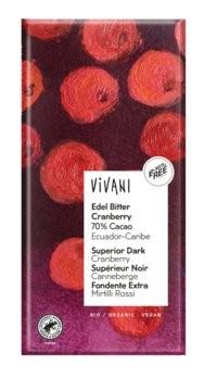 vivani-edel bitter cranberry, vegan&lecker