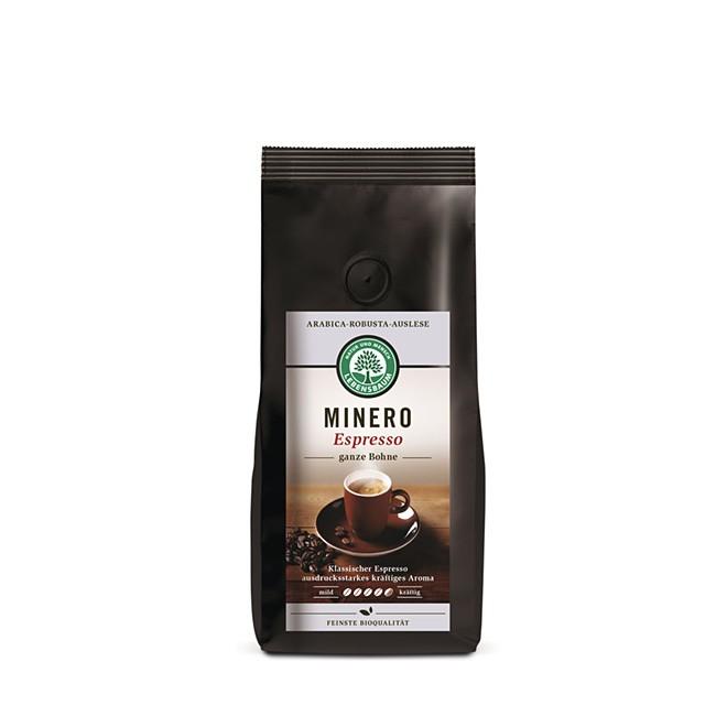 Lebensbaum Espresso Minero Bohnen Auslese aus Arabica und Robusta 250g