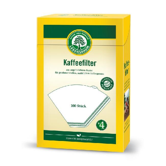 kompostierbare Kaffee Filtertüten Gr. 4 für gängige Kaffeemaschinen (100stück)