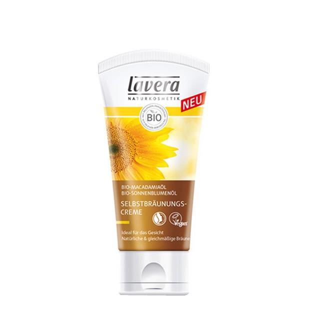 Lavera Selbstbräunungscreme Sun Sensitive fürs Gesicht Bio Macadamiaöl Zertifizierte Naturkosmetik 50ml