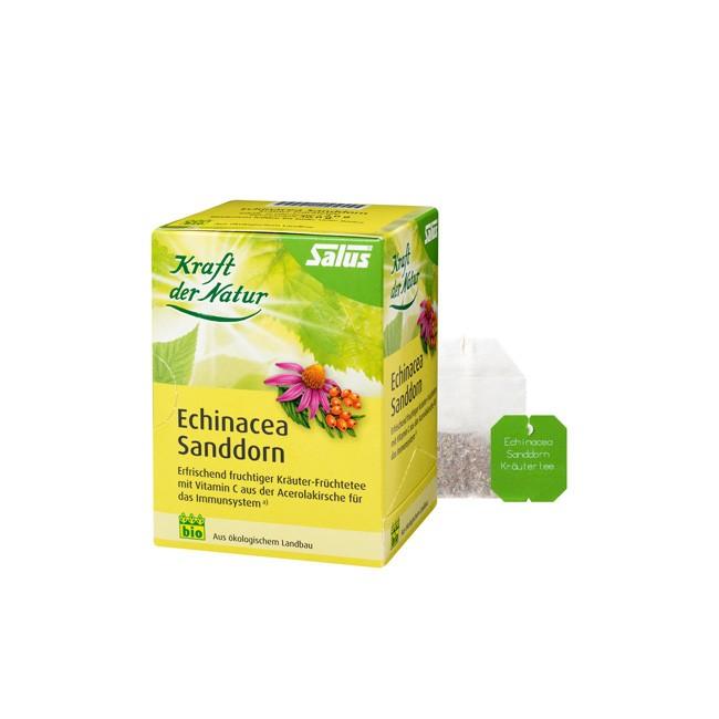 Salus Echinacea Sanddorn-Kräuter Früchtetee zur Immunsystemstärkung, bio (30g)