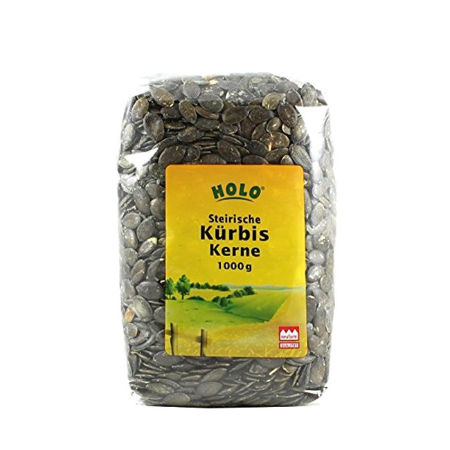 HOLO Kürbiskerne, schalenlos gewachsen 1kg - Großpackung