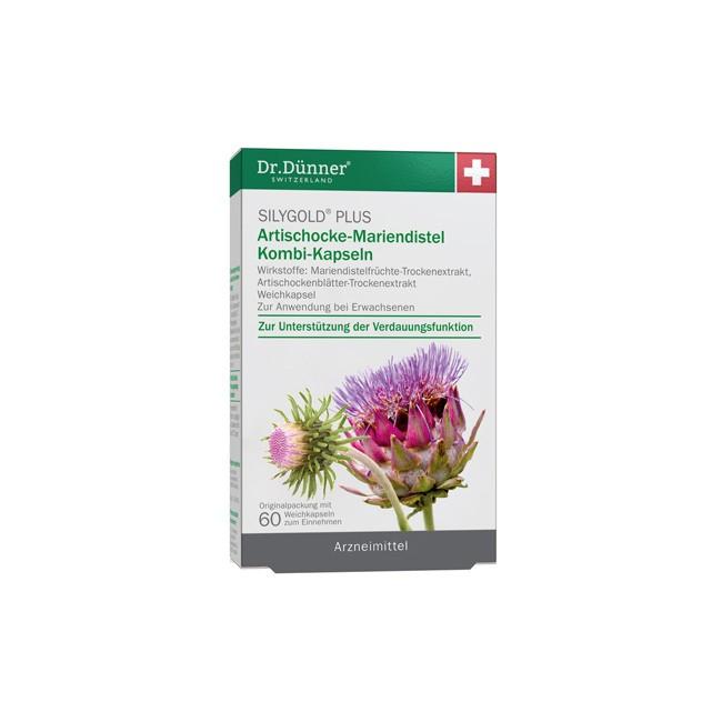 Dr. Dünner Silygold Plus Artischocke Mariendistel Kombi Kapseln 60 Stk.