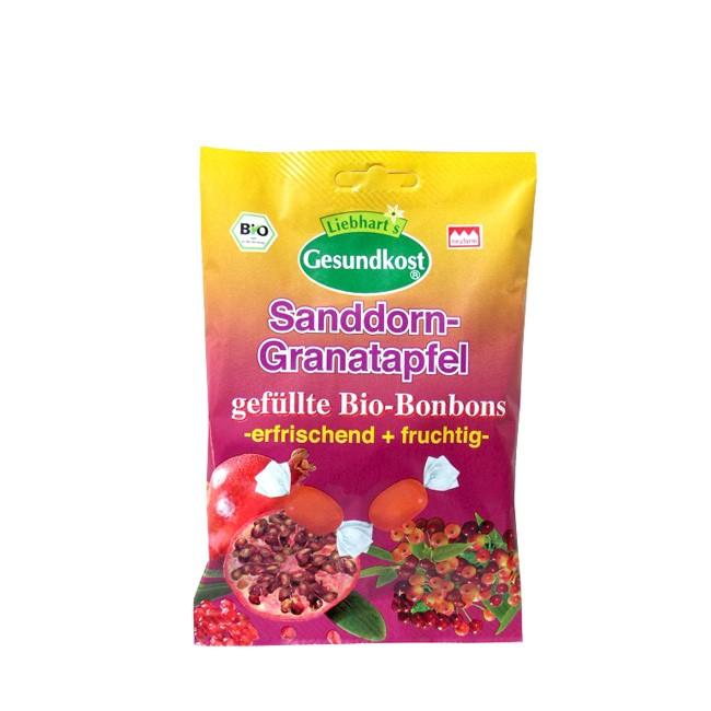 Liebhart's Gesundkost Granatapfel Sanddorn Frucht Bonbons bio 100g mit feinsten Bio Zutaten