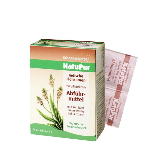Natupur 20 Portionsbeutel mit je 5g indischen Flohsamenschalen als Abführhilfe von Schoenenberger