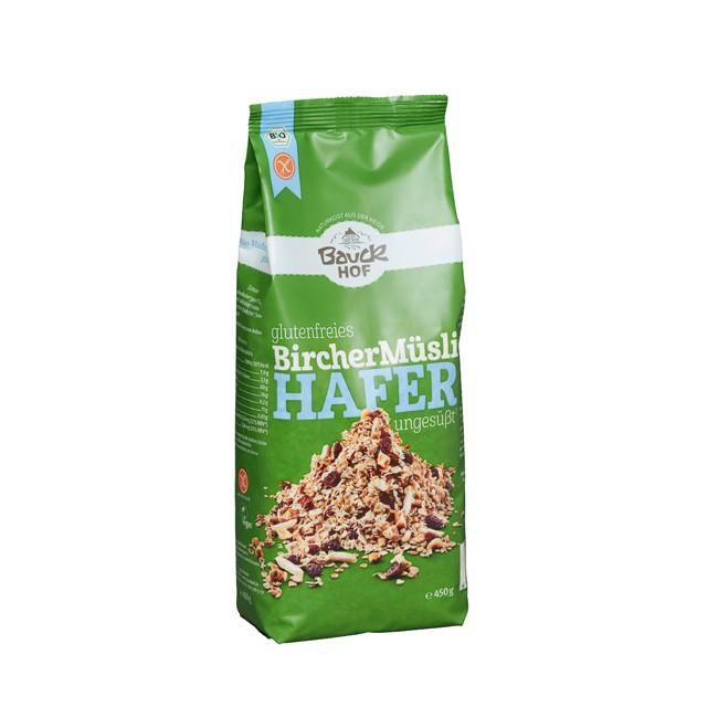 Bauckhof: gesundes, glutenfreies Hafermüsli für ein ausgewogenes Frühstück (450g)