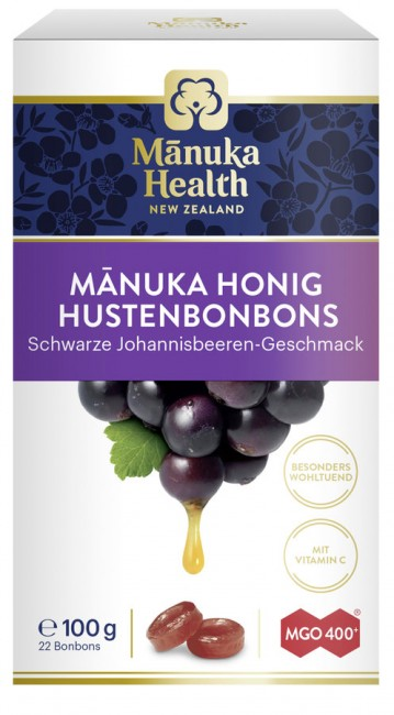 Manuka Health : Hustenbonbons MGO 400+ schwarze Johannisbeere (100g)