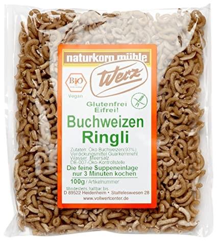 Werz : Ringli Buchweizen Vollkorn Nudeln, bio (100g)