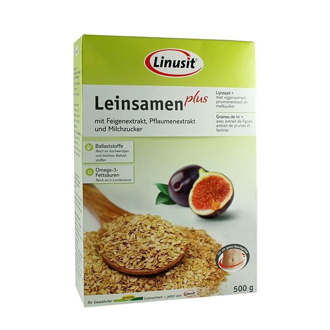 Leinsamen plus Ballaststoffe und Milchzucker von Linusit (500g)