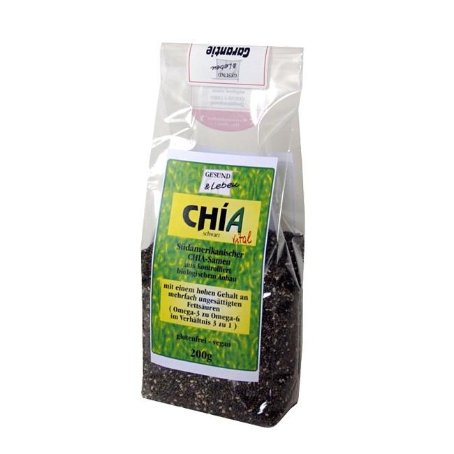 Gesund & Leben Chia Samen 200g im wiederverschließbaren Beutel