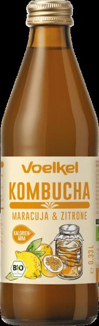 Voelkel : Kombucha Maracuja & Zitrone, bio (0,33l)**