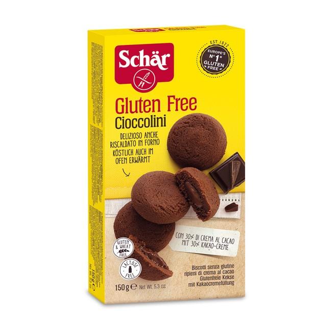 Dr.Schär Cioccolini Glutenfreie Kekse mit Kakaocremefüllung 150g