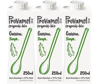 Sahneersatz von Provamel: Soja Cuisine Sparpack mit 3 Stück á 250ml