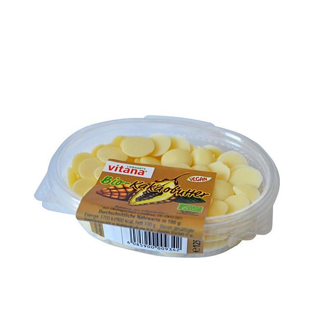Vitana Bio Kakaobutter 125g - portioniert in kleinen Chips - Drops
