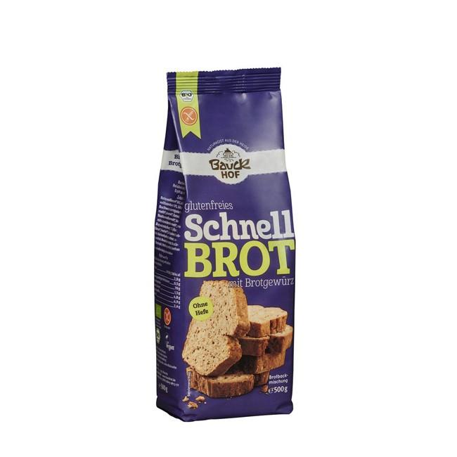 Backmischung Schnellbrot mit Brotgewürz - glutenfrei und BIO von Bauckhof