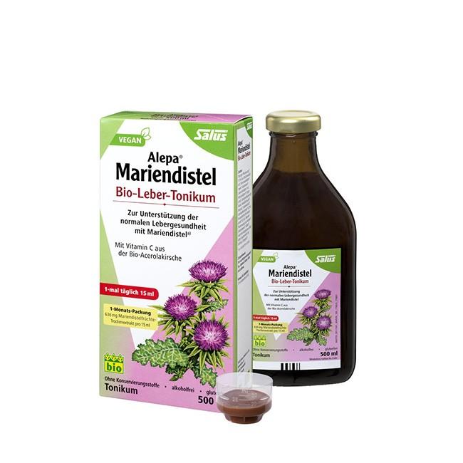 SALUS Alepa Mariendistel Leber Tonikum 250ml - Nahrungsergänzung zum entgiften
