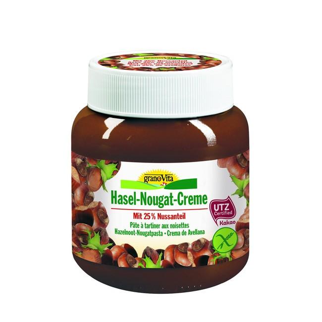 hasel-nougat-creme-aufstrich-granovita-400g-mit 25% Haselnuss