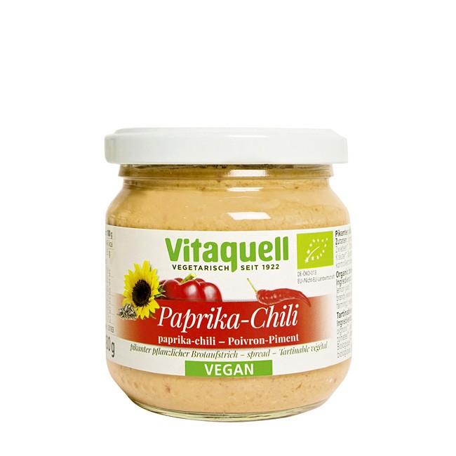 Vitaquell Paprika-Chili Brotaufstrich mit Sonnenblumen 180g