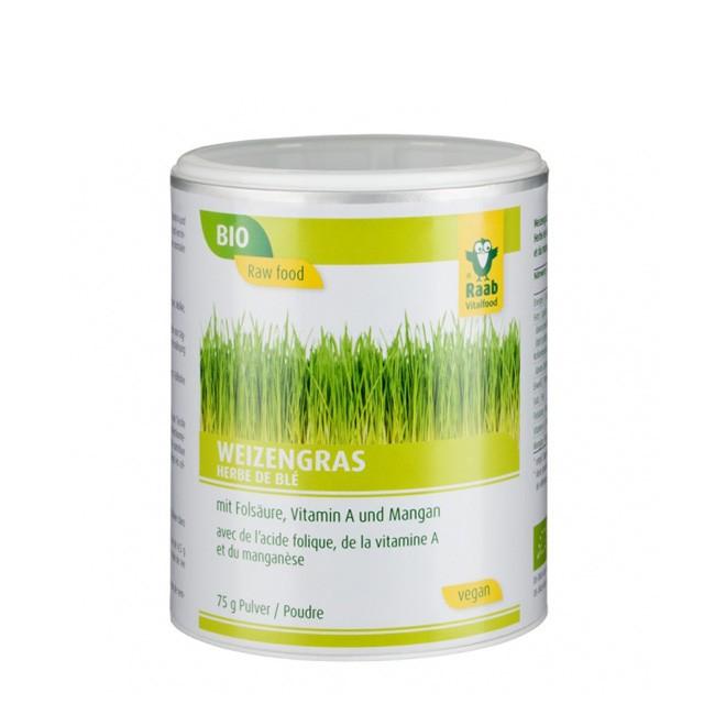 Bio Weizengras Pulver von Raab (75g)