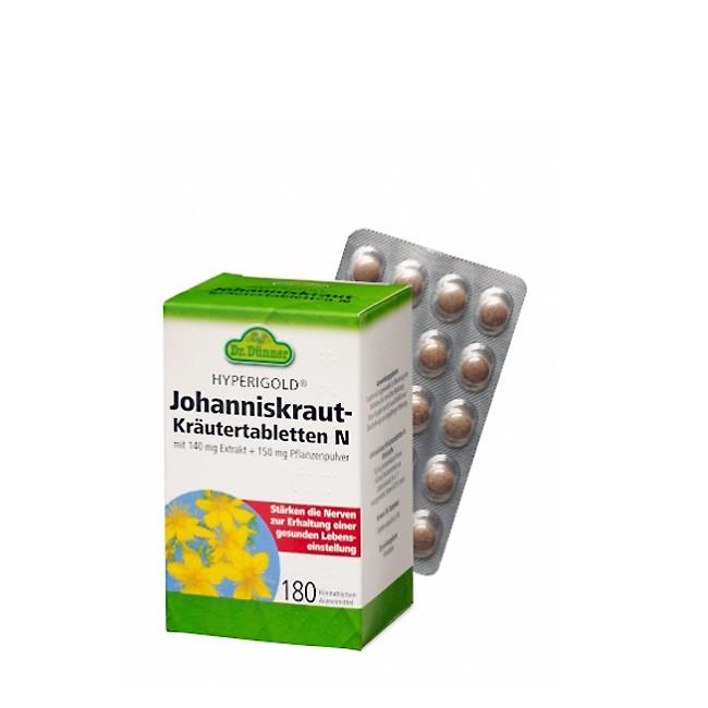 Dr. Dünner Johanniskraut-Kräutertabletten 180g Nerven beruhigend