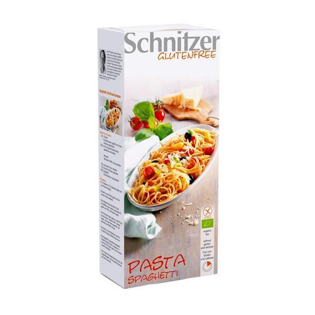 Pasta Spaghetti von Schnitzer aus 100% Bio Zutaten glutenfreie Spaghetti aus Mais-und Reismehl passend mit granoVita Pasta Chuta Tomatensauce