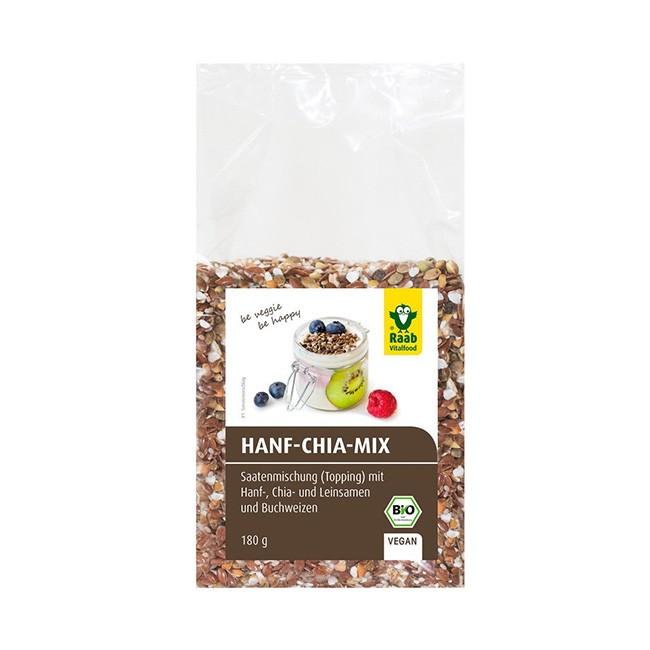 Hanf-Chia Topping von Raab - für Müsli- oder Salate vegan und bio (180g)