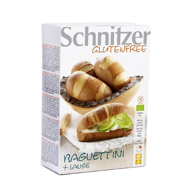 weiche Krume, zart-crosse Kruste das sind die Baguettini + Lauge von Schnitzer 2 Stück je 125g