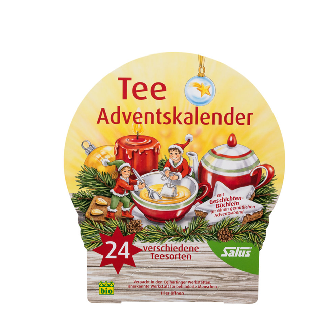 Tee Adventkalender 24 Beutel Bio von Salus