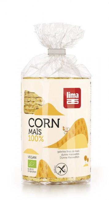 Lima : Dünne Maiswaffeln rund, bio (120g)