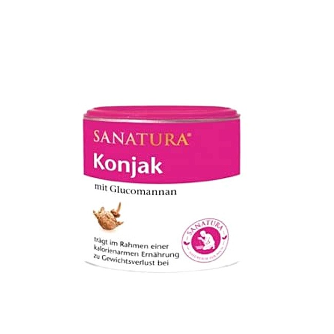 Sanatura Konjak Pulver - Glucomannan-Mehl aus der Konjak Wurzel