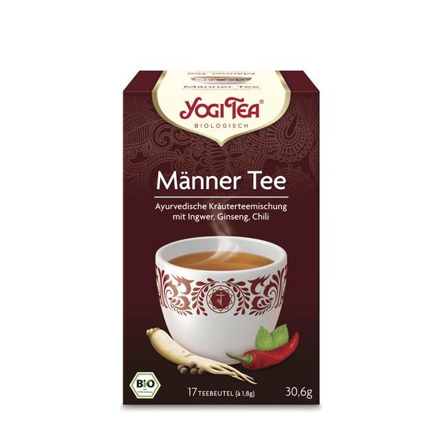 Für Männer zum entspannen mit Baldrian und wohlduftendem Menthol der Yogi Tea Männer Tee in Bio Qualität