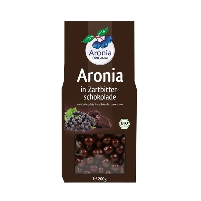 Bio Aroniabeeren umhüllt von einem Zartbitter Schokoladenmantel 200g Packung - Aronia ORIGINAL