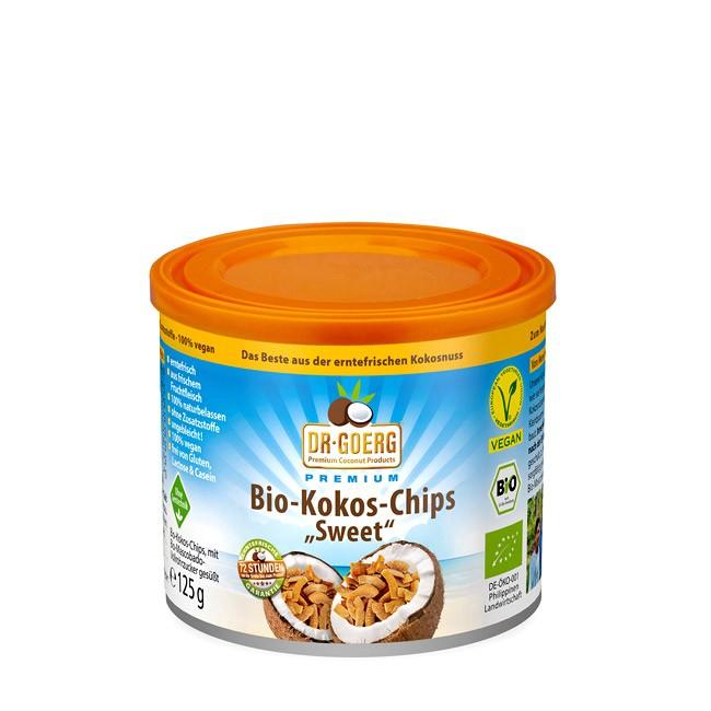 Dr. Goerg süße, vegane Kokoschips 125g-Dose