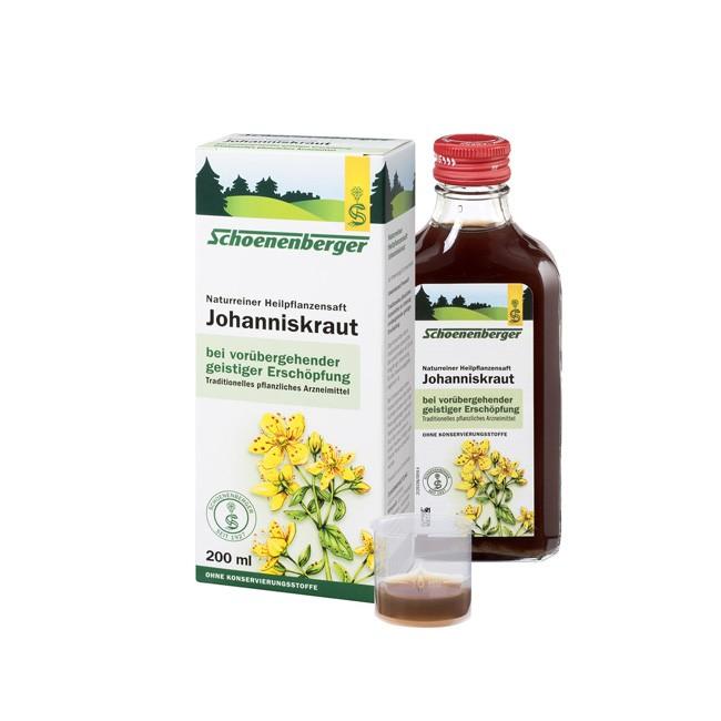 Schoenenberger naturreiner Heilpflanzensaft Johanniskraut bio 200ml zur Linderung von Nervosität