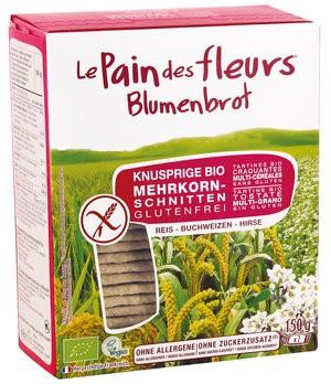 Blumenbrot Mehrkornschnitten (150g), glutenfrei, laktosefrei