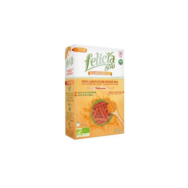 Rote Linsen Pasta glutenfrei und Bio aus Italien von Felicia Bio (250g)