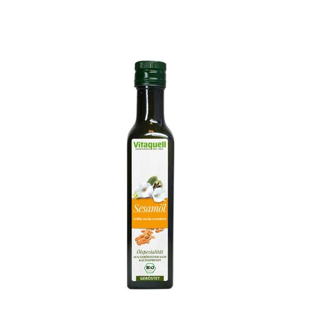 Geröstetes Sesam-Öl für Asiatische Speißen Vitaquell 250ml bio