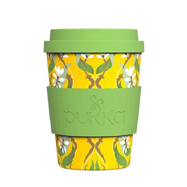 Pukka to go - Goldene Kurkuma Tasse aus 100% Bambusfaser und Silikondeckel