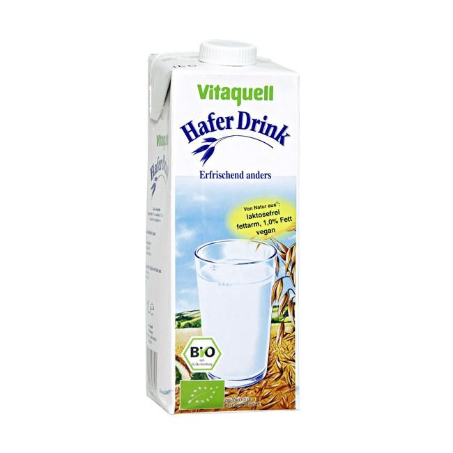 bio-hafer-drink-vitaquell-1-liter Hafermilch vegan sojafrei und fettarm