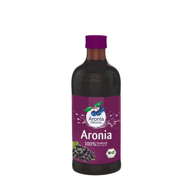 Aronia Bio Muttersaft in 0,35 Liter Flasche - Aronia ORIGINAL