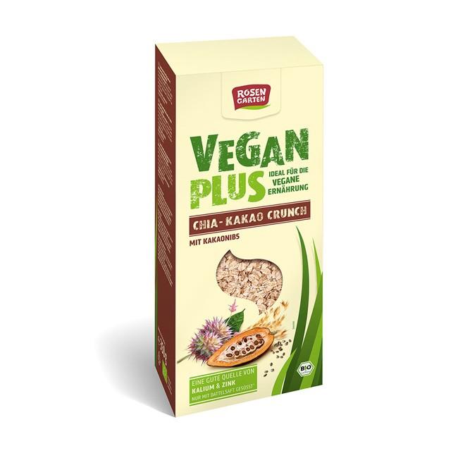 Rosengarten Vegan Plus Chia Kakao Crunch, bio 350g