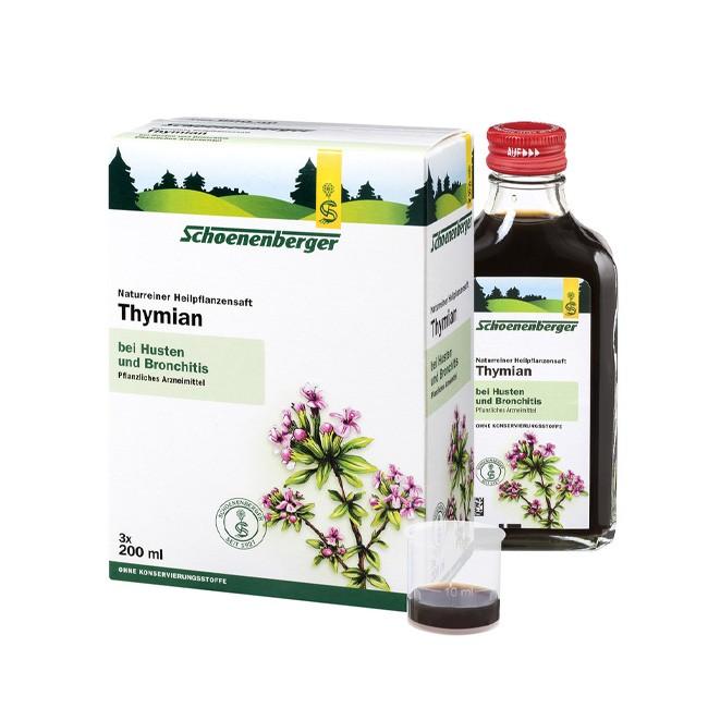 Schönenberger Thymian Bio Pflanzensaft 200ml Arzneimittel bei akuter Bronchitis schleimlösend