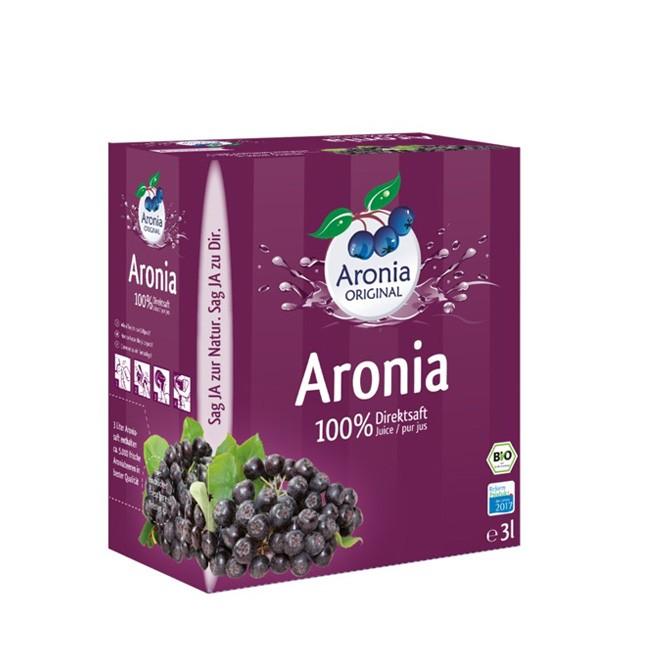 100% Aronia Direktsaft im 3 Liter Pack mit Zapfhahn - Aronia ORIGINAL