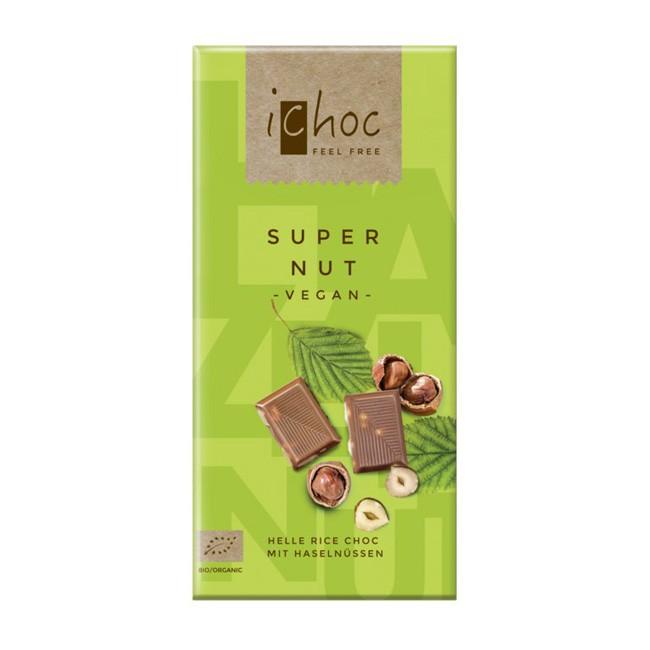 Super Nut - Helle vegane Reismilchschokolade von i-Choc (80g)