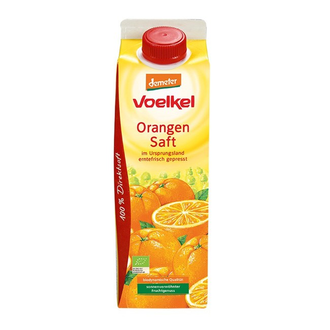 Orangensaft in Demeter Qualität von Voelkel - 1 Liter Bio Direktsaft