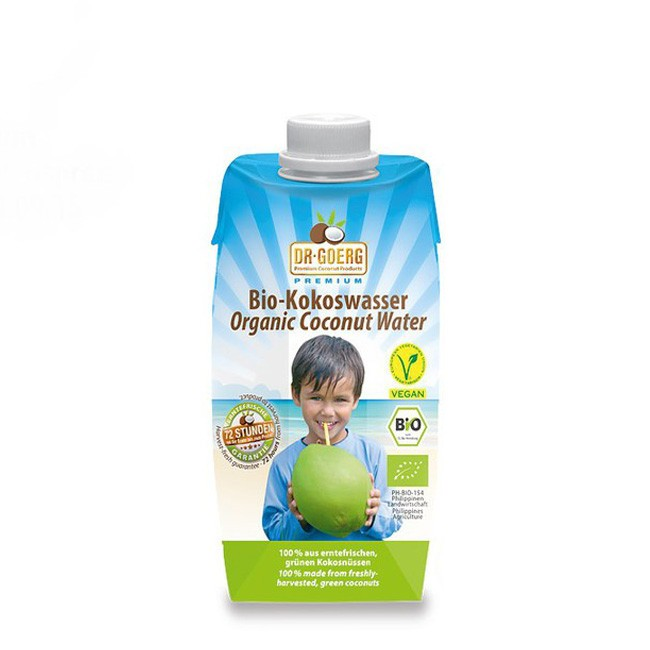 Bio Kokoswasser (330ml) von Dr. Goerg in Premium Qualität