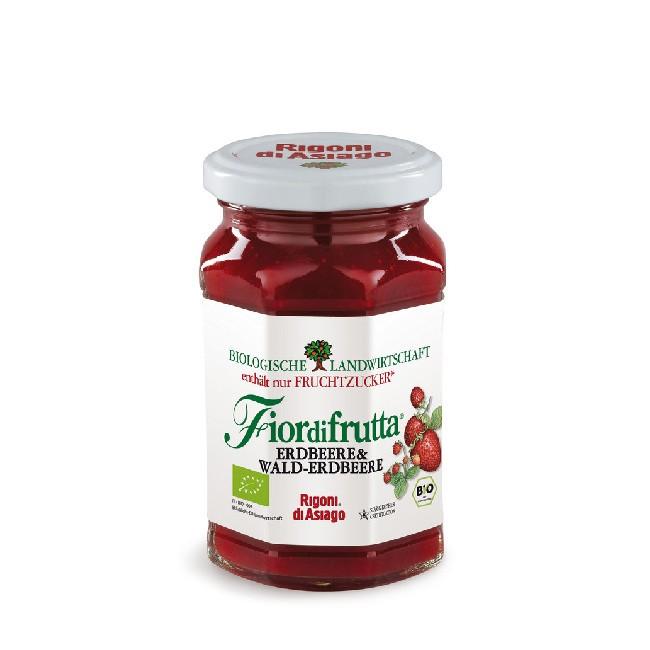 Erdbeer- Walderdbeer Fruchtaufstrich Bio von Fiordifrutta aus dem Hause Rigoni di Asiago
